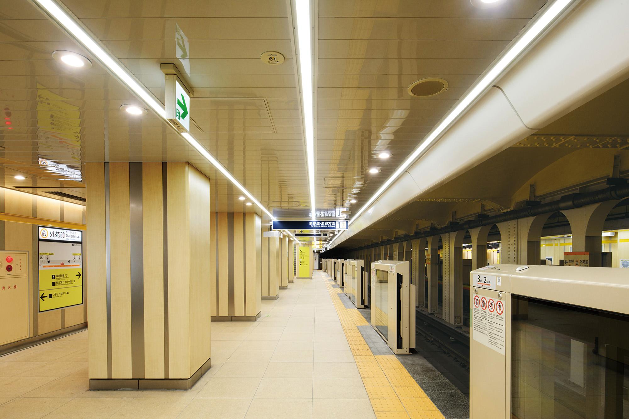 東京メトロ銀座線 青山一丁目駅 外苑前駅(ノンスケール設計案件)